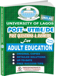 UNILAG Past UTME Questions for ADULT EDUCATION