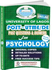 UNILAG Past UTME Questions for PSYCHOLOGY