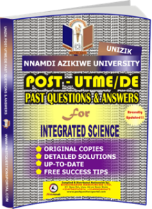UNIZIK Past UTME Questions for INTEGRATED SCIENCE
