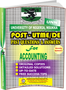 UNN Past UTME Questions for ACCOUNTING