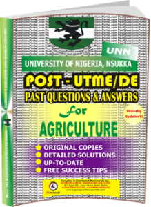 UNN Past UTME Questions for AGRICULTURE