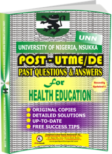 UNN Past UTME Questions for HEALTH EDUCATION
