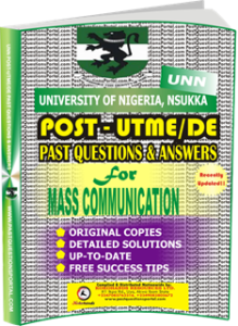 UNN Past UTME Questions for MASS COMMUNICATION