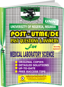 UNN Past UTME Questions for MEDICAL LABORATORY SCIENCE