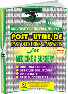 UNN Past UTME Questions for MEDICINE SURGERY