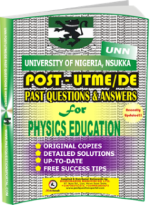 UNN Past UTME Questions for PHYSICS EDUCATION