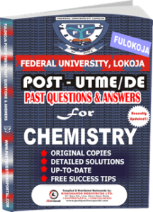 FULOKOJA Post UTME Past Questions for CHEMISTRY
