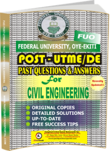 FUO Post UTME Past Questions for CIVIL_ENGINEERING