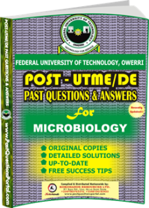 FUTO Post UTME Past Question for MICROBIOLOGY