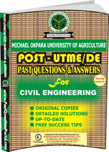 MOUAU Post UTME Past Question for CIVIL ENGINEERING
