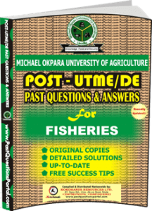 MOUAU Post UTME Past Question for FISHERIES