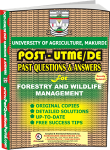 UAM Post UTME Past Question for Forestry and Wildlife Management