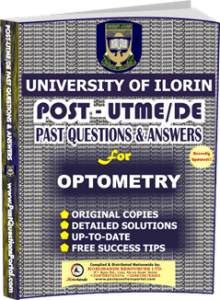 UNILORIN Post UTME Past Question for Optometry
