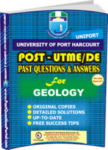 UNIPORT Post UTME Past Question for GEOLOGY