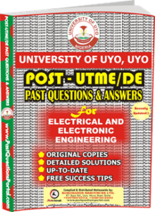 UNIUYO Post UTME Past Question for Electrical and Electronics Engineering