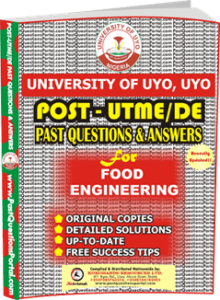 UNIUYO Post UTME Past Question for Food Engineering