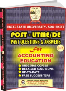 EKSU Post UTME Past Questions for ACCOUNTING EDUCATION