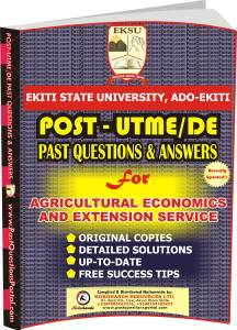 EKSU Post UTME Past Questions for Agricultural Economics and Extension SERVICE
