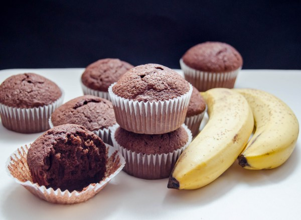 chocolate banana muffins