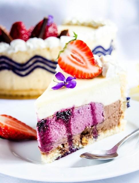blueberry entremet