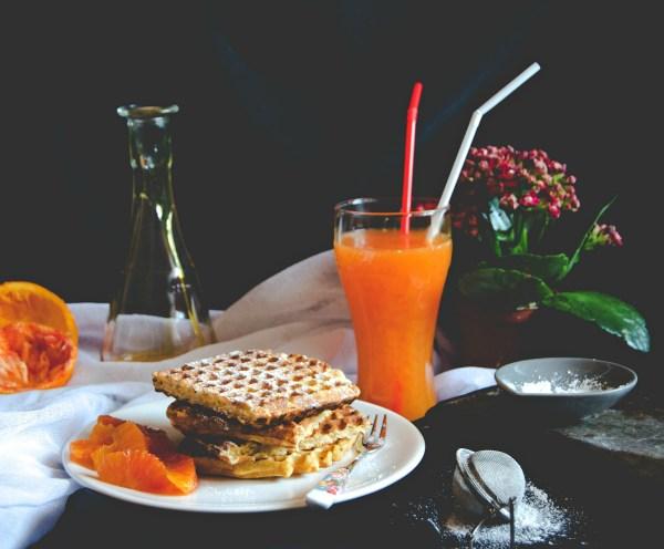 breakfast oat waffles