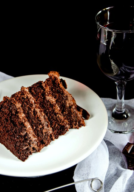 red wine chocolate cake
