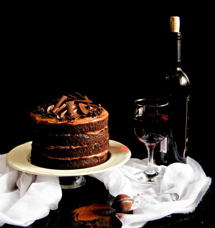 red wine chocolate cake2