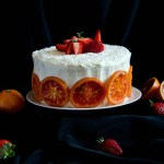 {Strawberry Blood Orange Cake} – Tort cu portocale rosii si capsune