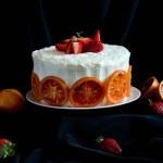{Strawberry Blood Orange Cake} – Tort cu portocale rosii si capsune