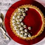 {Pistachio Cherry Cheesecake Tart} – Cheesecake cu fistic si cirese