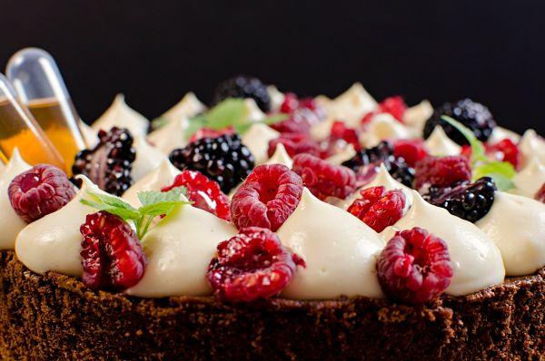 Amaretto mousseline tart2