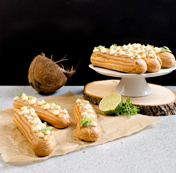 coconut lime eclairs