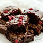 {Double Chocolate Raspberry Brownies} – Brownies cu ciocolata si zmeura