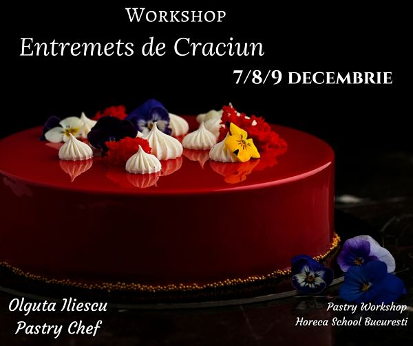 Workshop Entremets de Craciun @ Horeca School