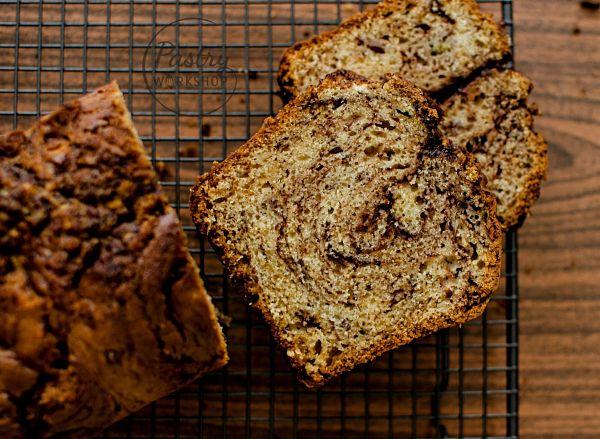 nutella swirled banana bread