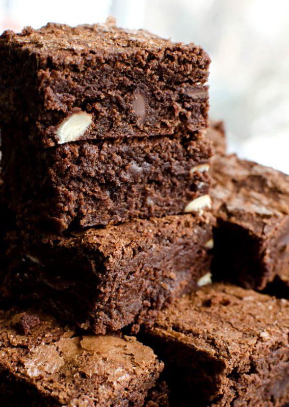 quadruple chocolate brownies