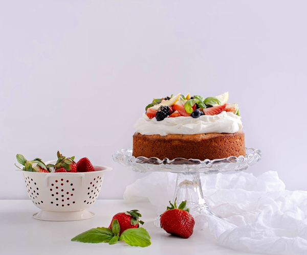 basil lemon cake