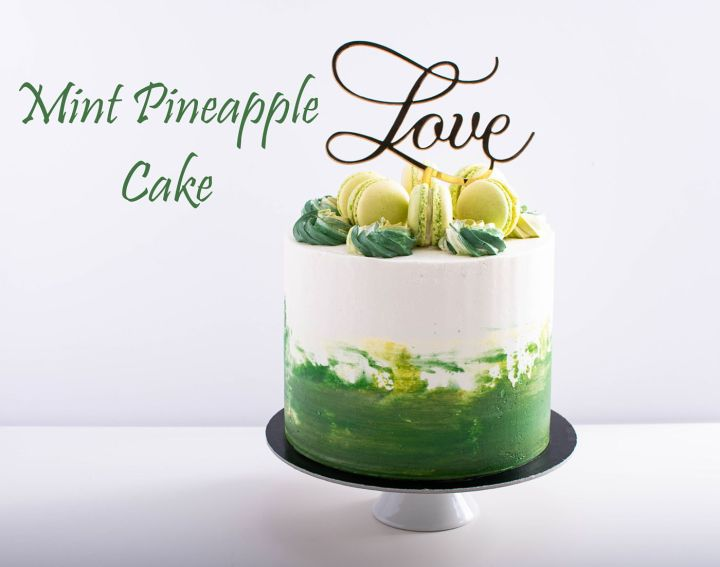 mint pineapple layered cake