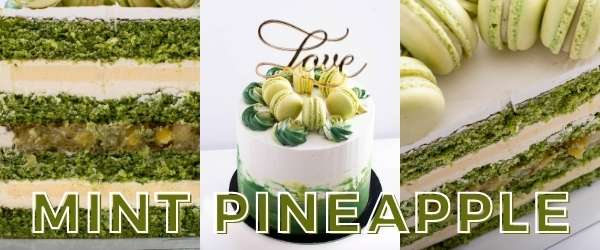 online pastry classes - pineapple mint layered cake
