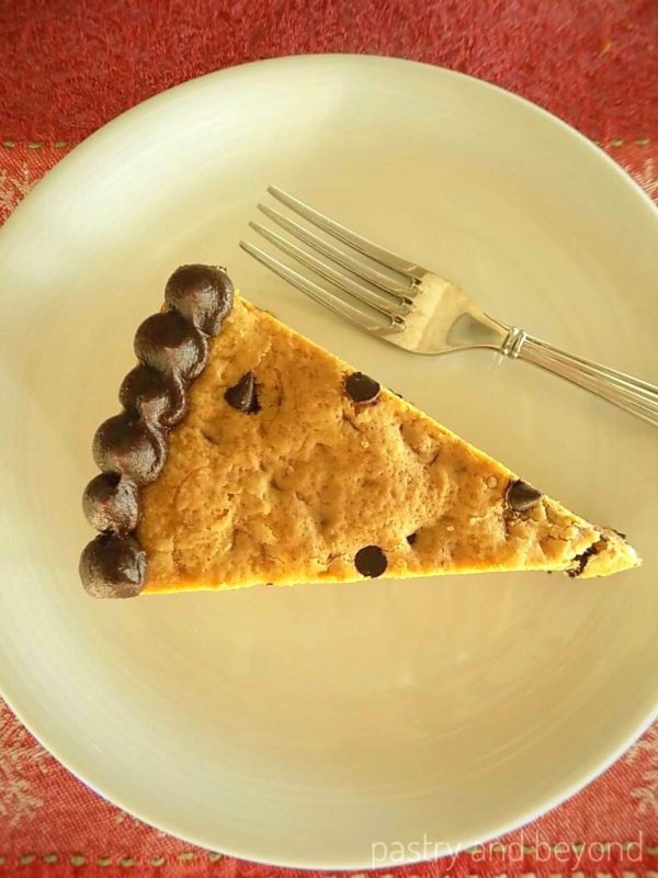 Chocolate Chip Cookie Cake Slice