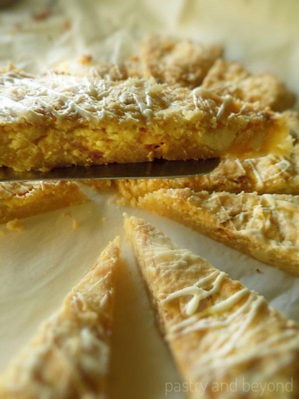 Soft Lemon and White Chocolate Cookie Cake