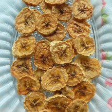 Homemade Oven-Dried Crispy/Chewy Bananas