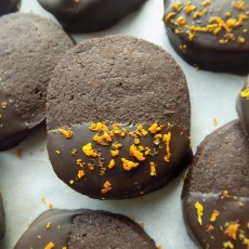 Slice-and-Bake Chocolate Orange Cookies