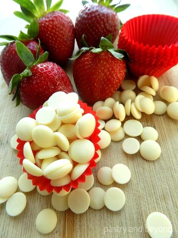 Strawberries and white chocolate