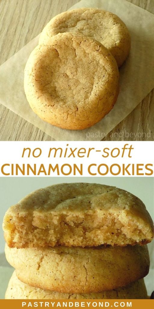 Pin of soft cinnamon cookies