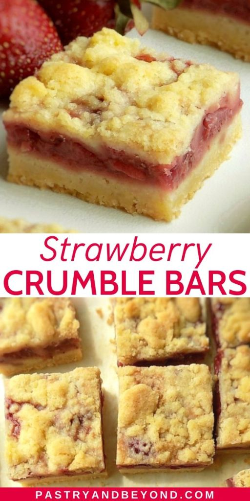 Pin of Strawberry Crumble Bars