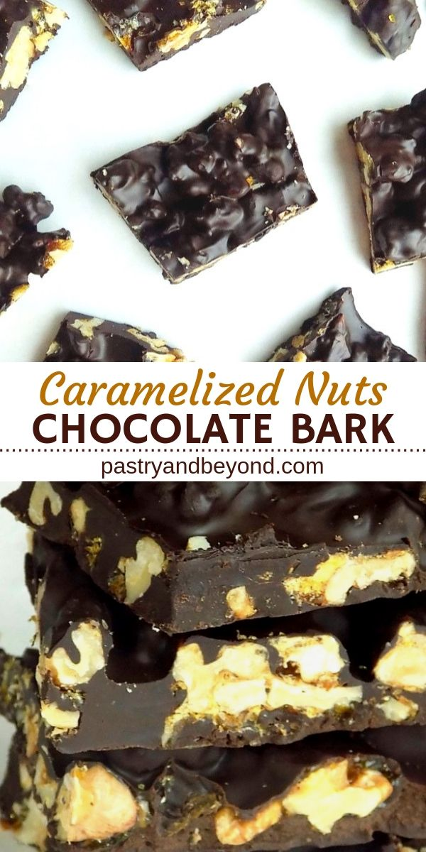 Chocolate Candy Bark with Nuts