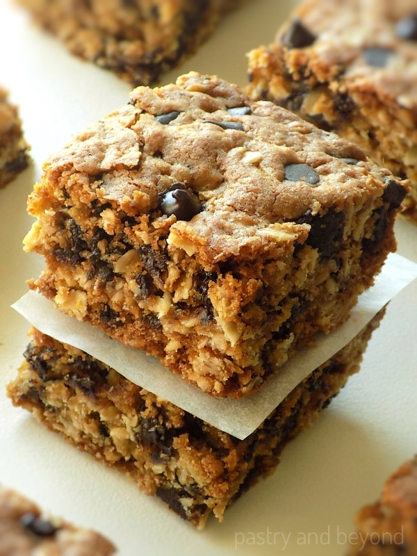 Stacked Oatmeal Chocolate Chip Bars