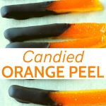 Pin of chocolate dipped candied oranges