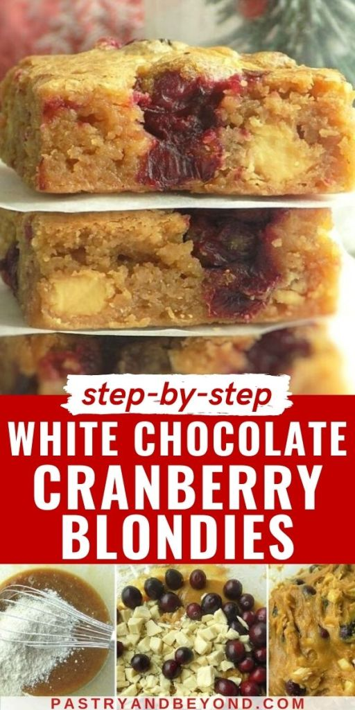 Stacked blondies with step by step photos.